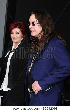 """LOS ANGELES - AUG 1:  Sharon & Ozzy Osbourne arrives at the """"Total Recall"""" Premiere at Graumans Chinese Theater on August 1, 2012 in Los Angeles, CA"""