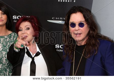 "LOS ANGELES - AUG 1:  Sharon & Ozzy Osbourne arrives at the ""Total Recall"" Premiere at Graumans Chinese Theater on August 1, 2012 in Los Angeles, CA"