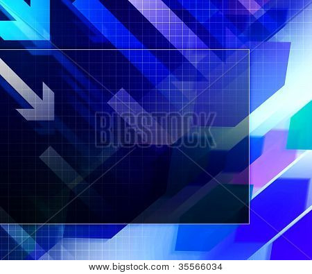 Blue Business Architecture Background