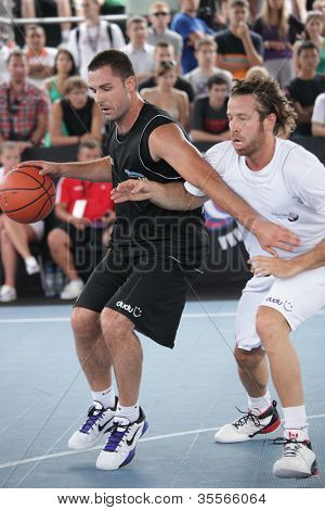 MOSCOW, RUSSIA - JULY 28: Match FISB Streetball Italy vs Bwin.com, Slovenia during International Street Basketball Cup