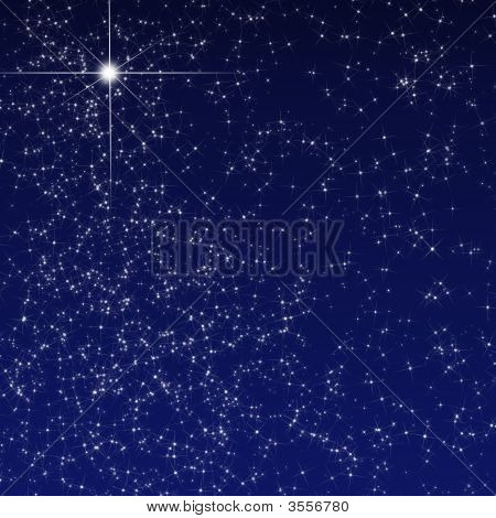 Peaceful Sky Filled With Stars