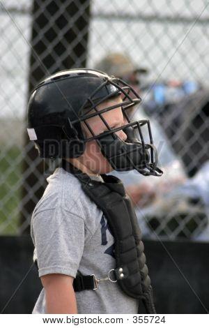 Young Baseball Catcher