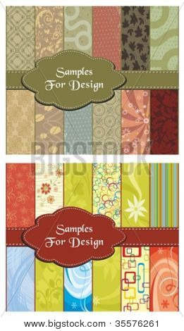 samples for design, vector