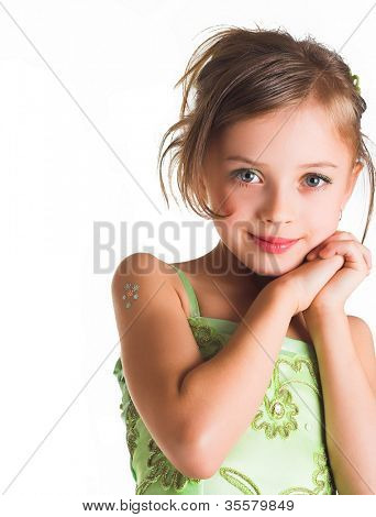 glückliche Zeit für kleine Mädchen