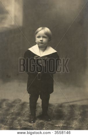 Vintage Family Photo Of A Boy 1905