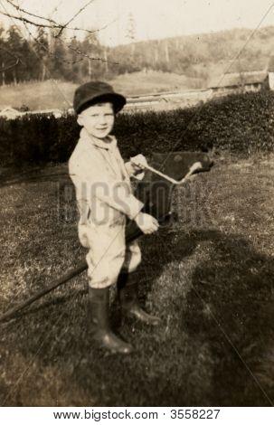Vintage 1940 Boy Photo