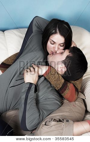 intimate image of sensual couple