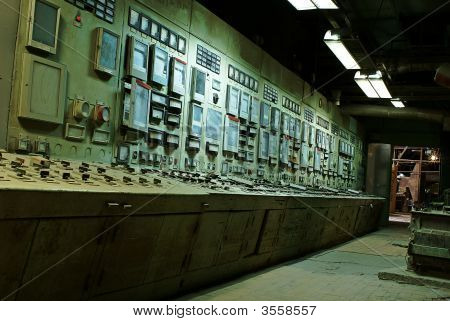 Operator Room At Old Power Plant