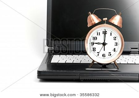 shot of office work in relation with time efficiency.