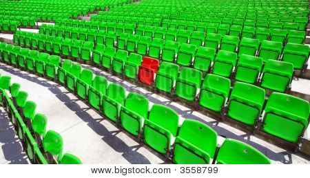 Green Seat Rows