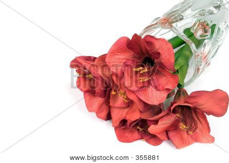 Red Silk Flowers