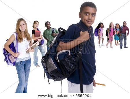 Diversidad de los niños de escuela