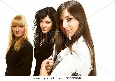 Three young successful business women