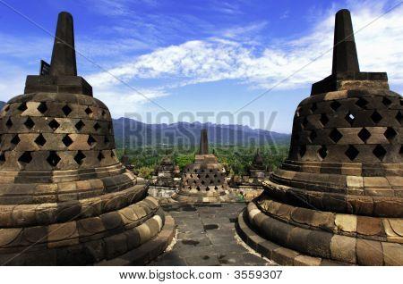 Indonesia, Central Java. The Temple Of Borobudur