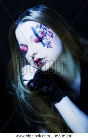 Creative dark  gothic  make-up