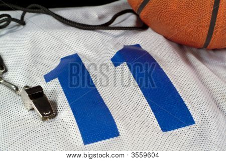 Basketball On White Jersey