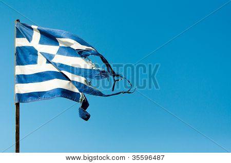Rundown Greece Flag