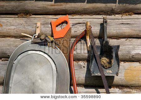 Tools on a wall