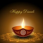 image of deepavali  - Beautiful illuminating Diya background for Diwali or Deepawali festival - JPG