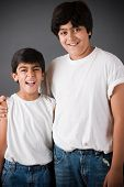 image of east-indian  - Portrait of two brothers as they stand together