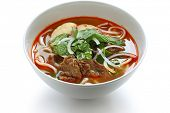 foto of rice noodles  - bun bo hue - JPG