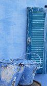 stock photo of nubian  - blue paint - JPG