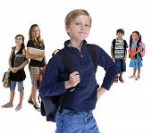 foto of girl reading book  - Young kids are ready for school - JPG