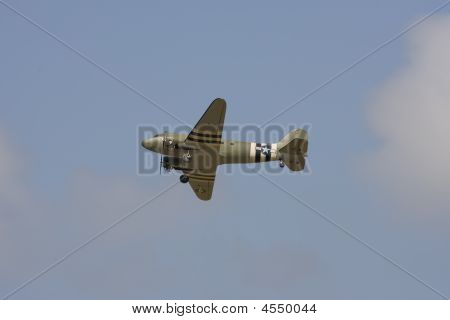A R/c Model C-47 In Flight At An Airshow