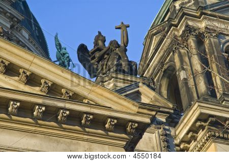 Statue Of Angel On Berliner Dom