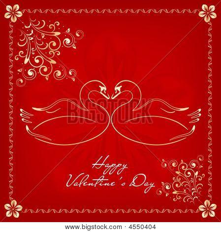 St.valentine`s Day Card
