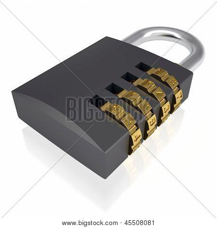 Metal combination lock