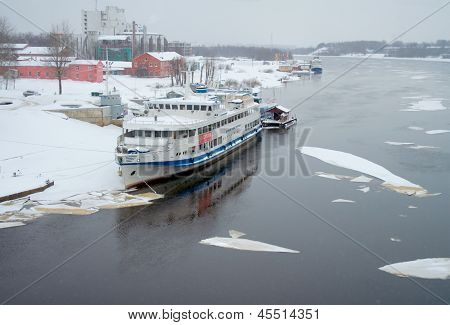 Driving Of Ice On Volkhov River