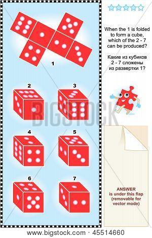 Visuelle Math puzzle mit roten Würfel cubes