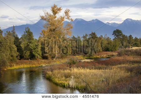 River Snow Mountains