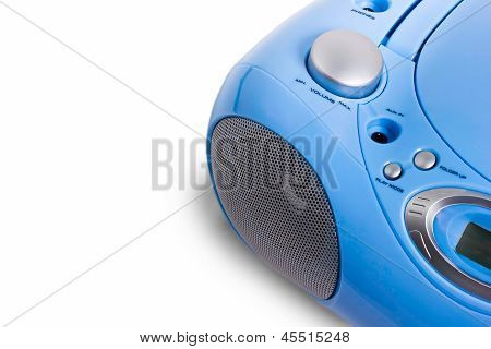 mp3 recorder blue on a white background