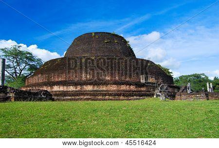 Pabulu Vihara Stupa In Polonnaruwa, Sri Lanka