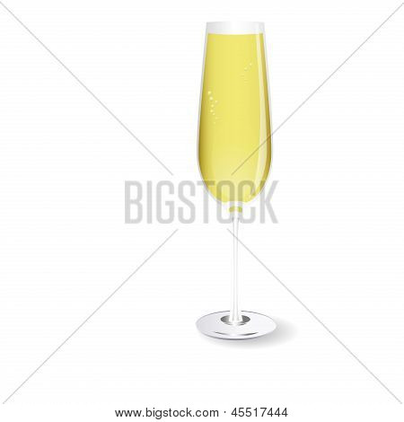 Vector Glass Of Champagne
