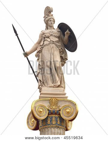 Athena statue goddess of philosophy and wisdom