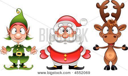 Papai Noel, duende,