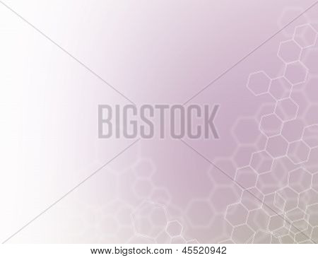 Molecule background, molecules linked in the blurred colors