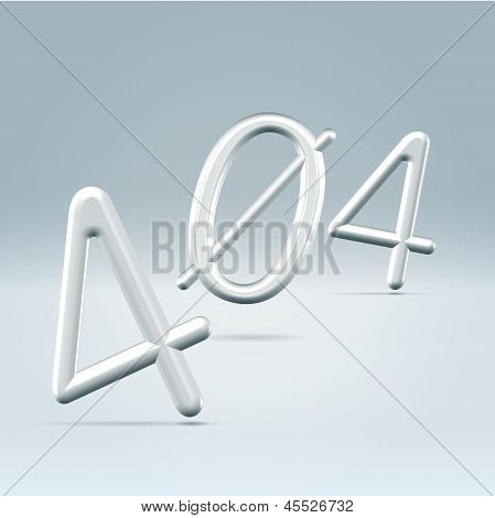Web Page 404 Error 3D Rendered Illustration