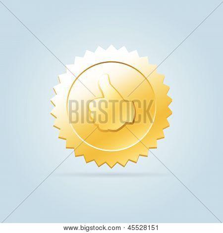 Golden Like Badge