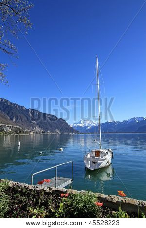 Springtime At Geneva Lake, Montreux, Switzerland