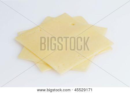 Slices Of Edam Cheese