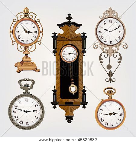 Set Of Vintage Clocks