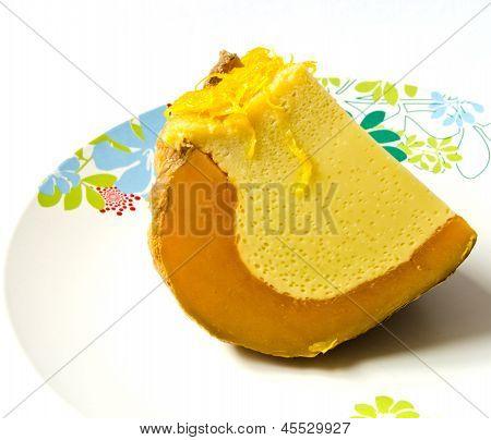 Pumpkin Custard, Thai Dessert