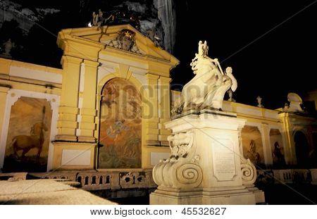 SALZBURG, AUSTRIA - CIRCA DECEMBER 2012: Herbert von Karajanplatz, Salzburg, Austria, December 2012