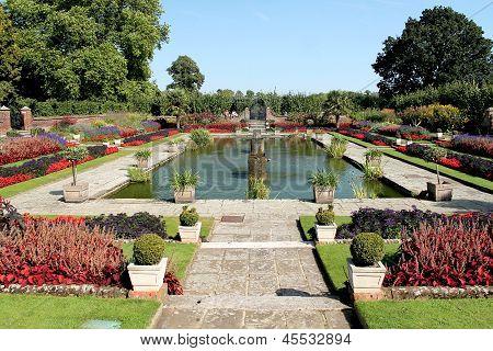 LONDON - SEPTEMBER 9, 2012: Kensington Palace Gardens on September 9, 2012 in London, England.