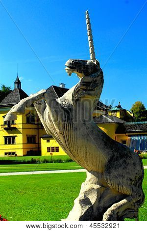 SALZBURG, AUSTRIA - CIRCA SEPTEMBER 2012: Garden of Schloss Hellbrunn in Salzburg in September 2012