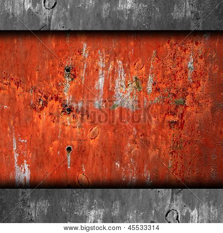 Fondo de hierro viejo rojo textura wallpaper moho y rayado